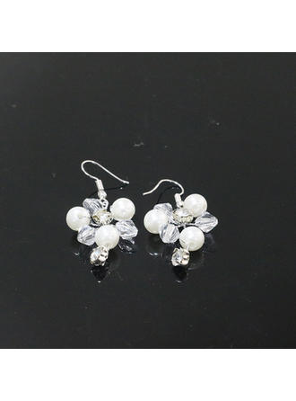 Earrings Rhinestones/Imitation Pearls Rhinestone/Imitation Pearls Pierced Ladies' Wedding & Party Jewelry