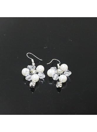 Elegant Rhinsten/Imiteret Pearl med Rhinsten/Imiteret Pearl Ladies ' øreringe