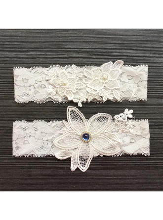 Jarretière Femmes/Nuptiale Mariage/Occasion spéciale Dentelle avec Une fleur/Strass/De faux pearl Jarretières
