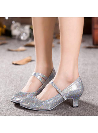 Women's Character Shoes Heels Sparkling Glitter Dance Shoes