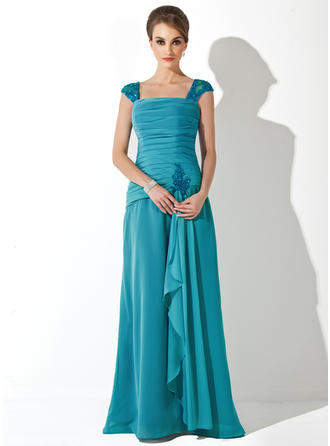 Newest Chiffon Square Neckline A-Line/Princess Mother of the Bride Dresses