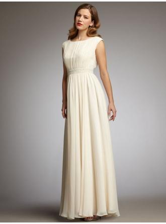 Scoop Neck Floor-Length Mother of the Bride Dresses