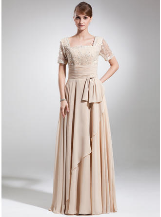 Gorgeous Chiffon Square Neckline A-Line/Princess Mother of the Bride Dresses