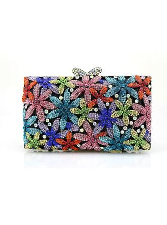 Clutches/Wristlets Wedding/Ceremony & Party/Casual & Shopping PU Magnetic Closure Gorgeous Clutches & Evening Bags (012186473)