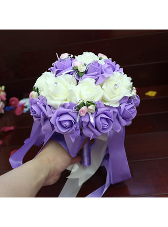 "Bridal Bouquets/Bridesmaid Bouquets Wedding 9.49""(Approx.24cm) With Ribbon Wedding Flowers"
