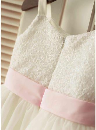 soft pink flower girl dresses