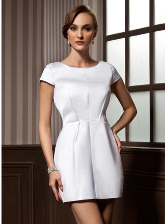 Fashion Sheath/Column Satin Cocktail Dresses
