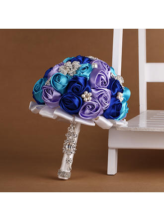 "Bridal Bouquets Round Wedding Satin/Silk 10.24""(Approx.26cm) Wedding Flowers"