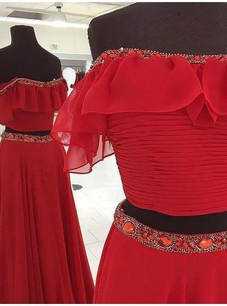 one shoulder tulle evening dresses 2017
