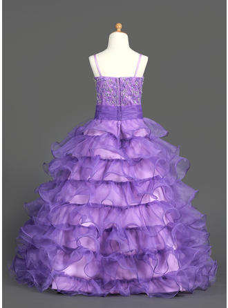 long tutu flower girl dresses