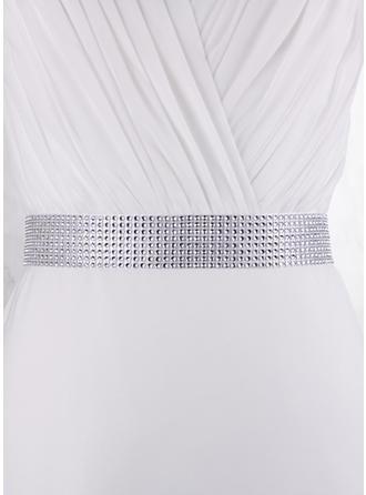 Women Satin With Rhinestones Sash Simple Sashes & Belts