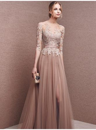 Floor-Length Prom Dresses With Lace