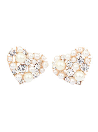 Earrings Alloy/Pearl/Rhinestones Pierced Ladies' Sweet Heart Wedding & Party Jewelry