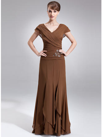 Gorgeous Chiffon V-neck A-Line/Princess Mother of the Bride Dresses