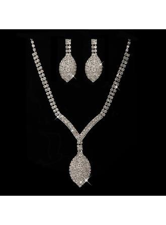 """Jewelry Sets Alloy/Rhinestones Pierced Fancy 14.2""""- 17.3""""(Approx.36cm-44cm) Wedding & Party Jewelry"""