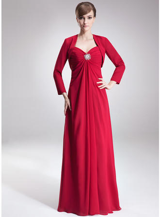 Empire Sweetheart Floor-Length Chiffon Mother of the Bride  ...
