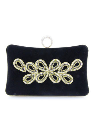 Clutches Wedding/Ceremony & Party Satin Clip Closure Elegant Clutches & Evening Bags (012188163)