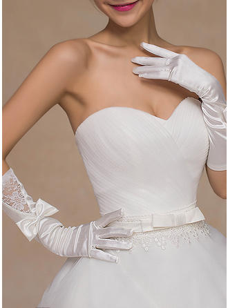 Lace Ladies' Gloves Bridal Gloves Fingertips 35cm(Approx.13.78inch) Gloves