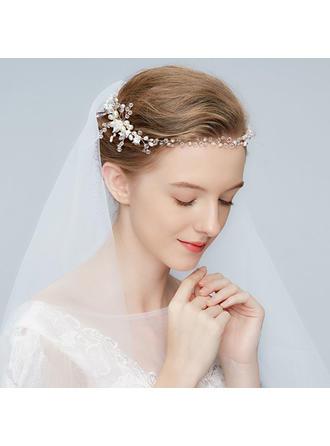 Elegante lega Pettine & clip di capelli con Perla Veneziano/Cristallo (Venduto in un unico pezzo)