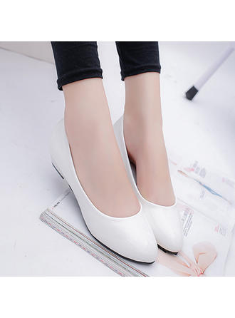 Women's Pumps Flat Heel Leatherette No Wedding Shoes