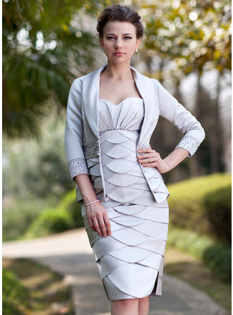 Beautiful Sweetheart Sheath/Column Satin Mother of the Bride Dresses