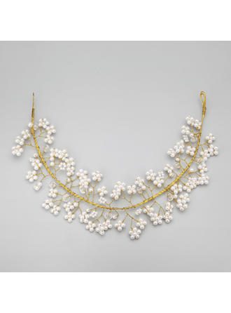 "Headbands Wedding/Special Occasion/Party Alloy/Imitation Pearls 13.78""(Approx.35cm) 2.56""(Approx.6.5cm) Headpieces"