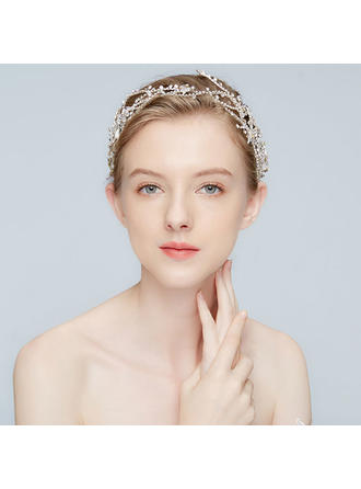 Elegant Alloy Headbands With Rhinestone/Crystal (Sold in single piece)