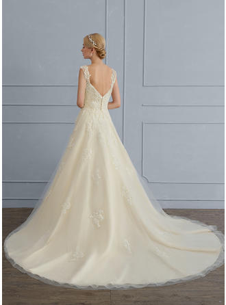 Sequins Ball-Gown - Tulle Wedding Dresses