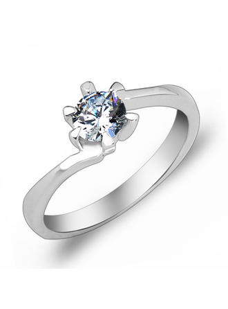 Rings Zircon/Platinum Plated Ladies' Elegant Wedding & Party Jewelry