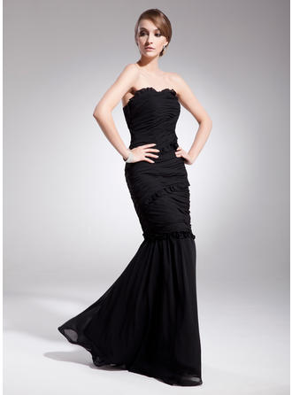 Trumpet/Mermaid Sweetheart Floor-Length Evening Dresses With Ruffle
