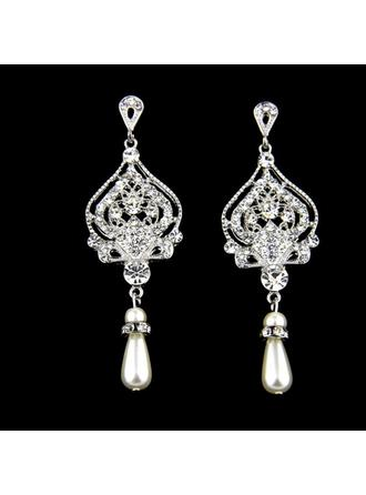Earrings Alloy/Rhinestones/Imitation Pearls Rhinestone/Imitation Pearls Pierced Ladies' Wedding & Party Jewelry