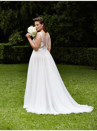 a line princess scoop neck dress
