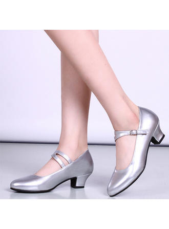 Women's Character Shoes Heels Leatherette With Buckle Dance Shoes