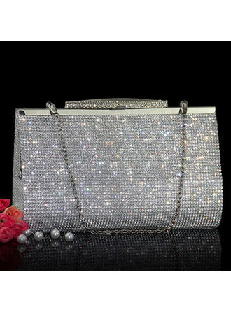 Clutches/Wristlets Wedding Crystal/ Rhinestone Clip Closure Charming Clutches & Evening Bags (012186797)