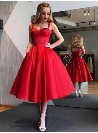 Newest Homecoming Dresses A-Line/Princess Tea-Length Sweetheart Sleeveless