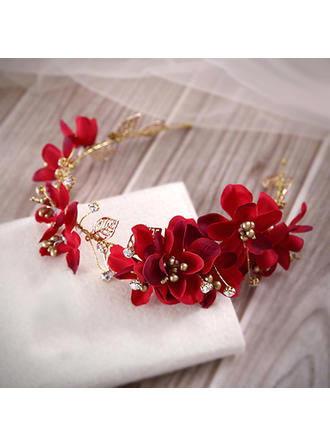 "Headbands Special Occasion/Party Artificial Silk/Gold Plated 14.96""(Approx.38cm) 1.97""(Approx.5cm) Headpieces"