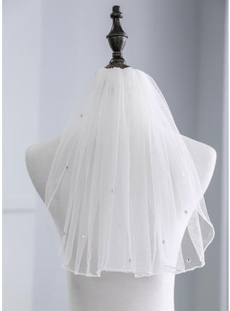 One-tier Shoulder Veils With Rhinestones (006141347)