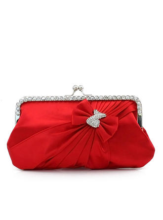 Clutches Ceremony & Party Silk Kiss lock closure Charming Clutches & Evening Bags (012184078)