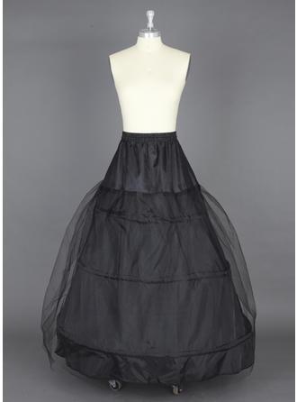 Jupons Longueur ras du sol Nylon/Tissu tulle Combinaison pour robe de bal 1 couche Jupons
