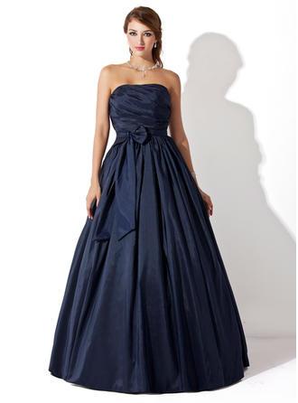 Ball-Gown Prom Dresses Chic Floor-Length Strapless Sleeveless