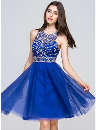Scoop Neck Sleeveless Chiffon Gorgeous Homecoming Dresses