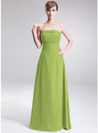 A-Line/Princess Strapless With Chiffon Bridesmaid Dresses