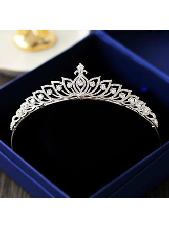 Ladies Exquisite Zircon Tiaras With Cubic Zirconia (042129280)