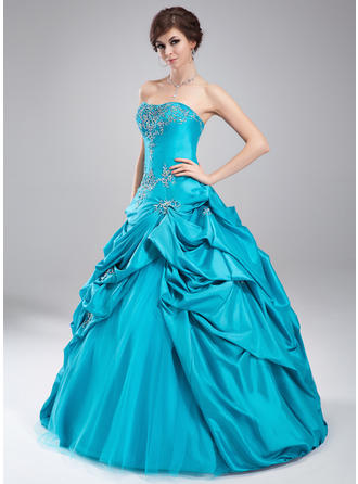 Gorgeous Taffeta Prom Dresses Ball-Gown Floor-Length Sweetheart Sleeveless