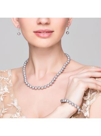 Elegant Pärla Damer' Smycken Sets