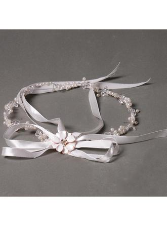 Elegant Rhinestone/Satin/Freshwater Pearl Headbands