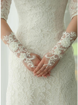Lace Ladies' Gloves Elbow Length Bridal Gloves Fingerless Gloves (014192206)