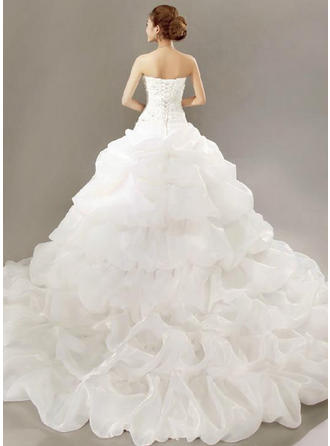 blush pink wedding dresses plus size