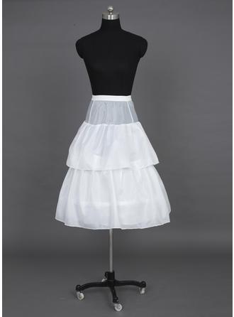 Unterröcke Bodenlang Tüll Netting/Taft Volle Kleid Gleiten/Blume Mädchen Gleiten 2 Ebenen Reifröcke