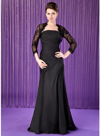 Trumpet/Mermaid Strapless Chiffon Luxurious Mother of the Bride Dresses